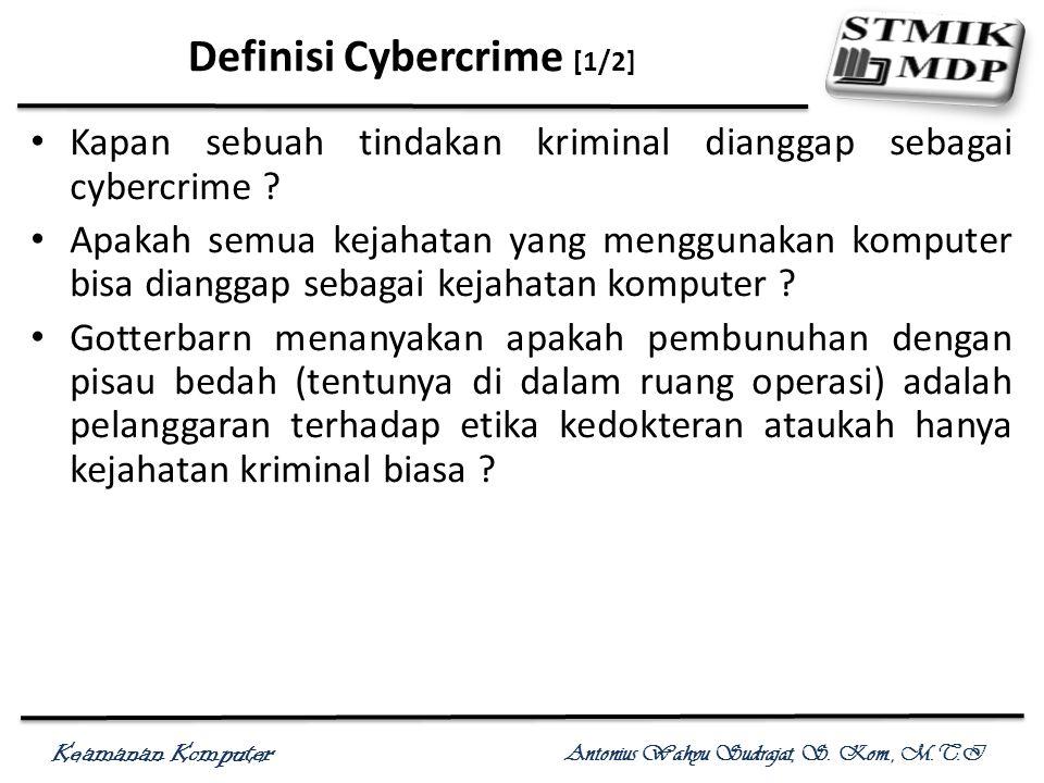 Definisi Cybercrime [1/2]
